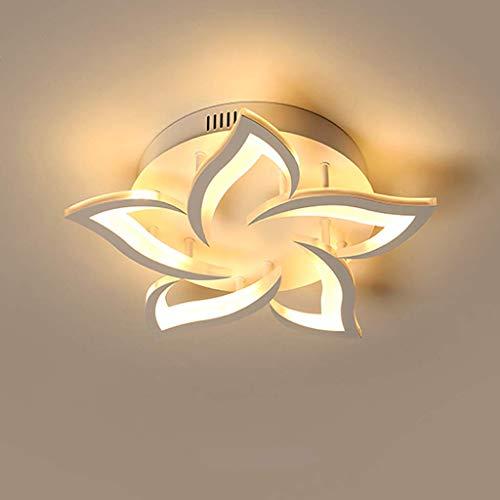 Lámpara Techo LED Moderna Lámpara Techo Sala Estar Regulable Diseño Forma Flor Creativa Araña Pétalo Metal Acrílico Con…