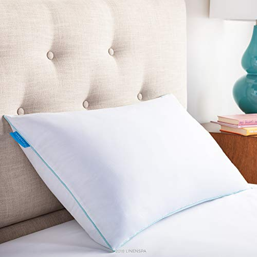 LinenSpa Shredded Memory Foam Pillow with Gel Memory Foam, Standard