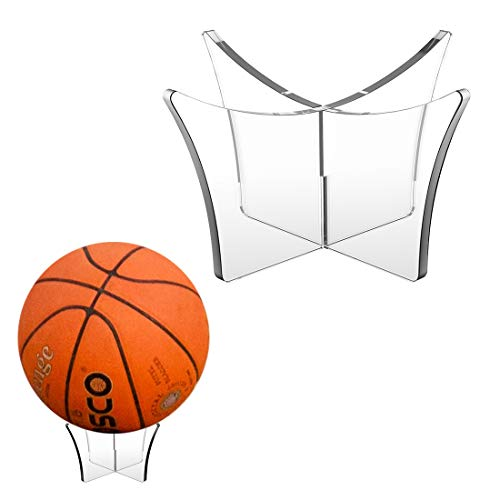 HanleyDepot Ball Stand Display Holder - Holds Football, Basketball, Volleyball, Bowling Ball, Rugby Ball or Soccer - Display Stand Ball