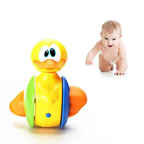 Cute Duck Musical Sing Song Electric Toys; Roly-Poly Toddler Toys for Education and Activity