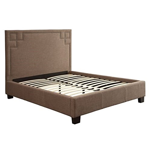- Modus Furniture 3ZH3L511 Royal Tufted Platform Bed, Queen, Dolphin