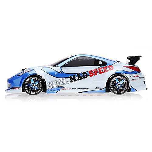 Exceed RC 1/10 Scale MadSpeed Electric Powered Drift Car 350 Style Blue