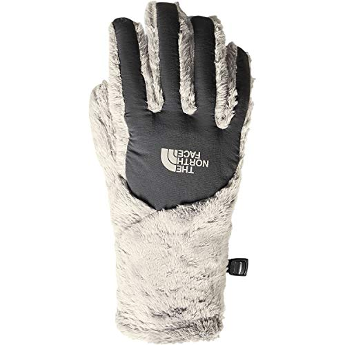 (The North Face Women's Osito Etip Glove - Vintage White & Asphalt Grey - S)