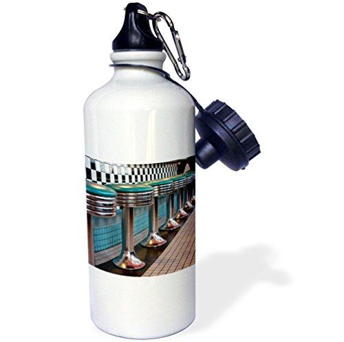 3dRose Danita Delimont - Julien McRoberts - Restaurants - Albuquerque, New Mexico, USA, Route 66. - 21 oz Sports Water Bottle (wb_191258_1) (Restaurants Albuquerque)