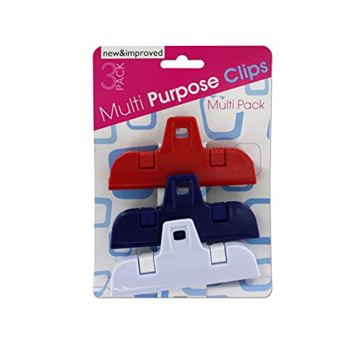 Medium Multi-Purpose Bag Clips 3-Piece Set