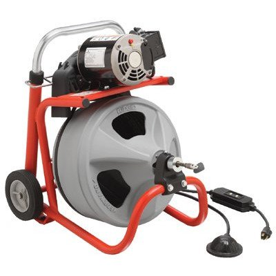"""Model K-400 Drain Cleaners - k-400 drain cleaning machine w/ 3/8"""" x 75' cable"""