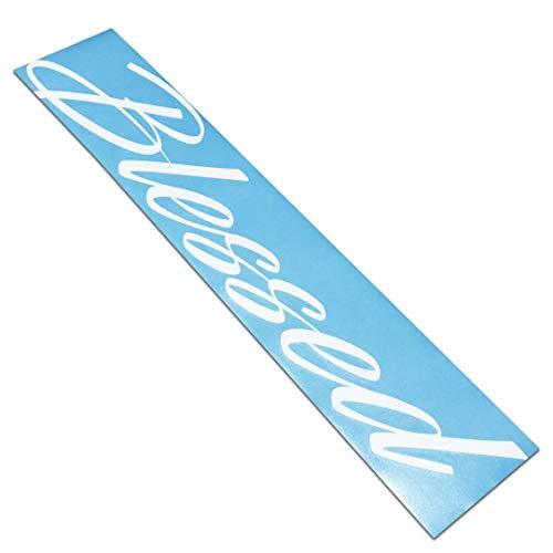 - Blessed Windshield Banner Decal/Sticker 6x30