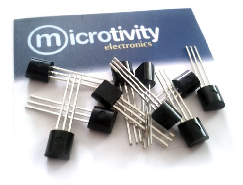 microtivity Pack of 10 2N3904 NPN Bipolar Amplifier/Switching Transistors