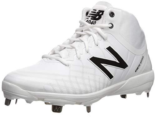 New Balance Men's 4040v5 Metal Baseball Shoe, White, 13 W US