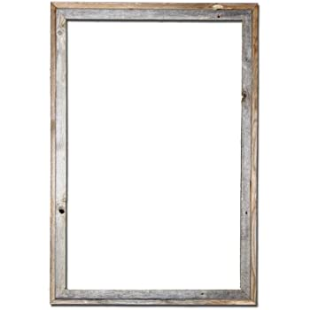 this item 24x36 picture frames signature barnwood reclaimed open frame no plexiglass or back