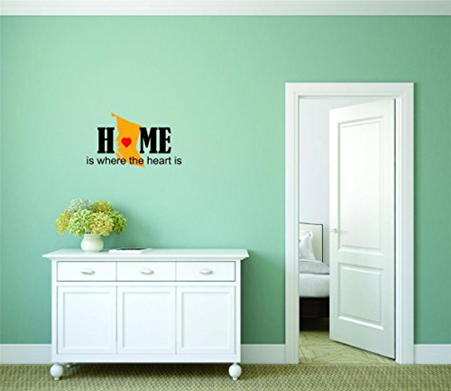 Decal - Peel & Stick Wall Sticker : British Columbia Home Is Where The Heart Is Canada Canadian Providence Home Decor Picture Art Size :30 Inches x 50 Inches British Isle Bedroom