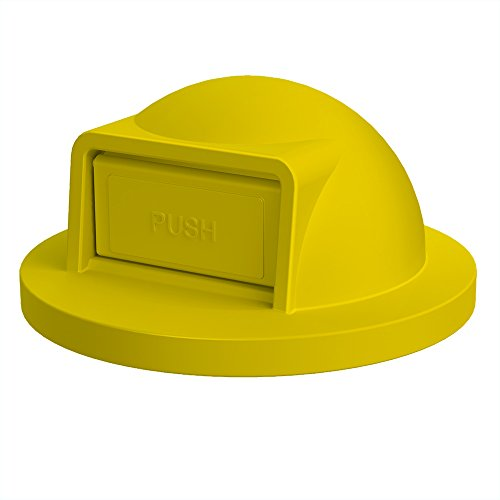 55 Gallon Receptacle (Dome Top For 55 Gallon Drum   Yellow)