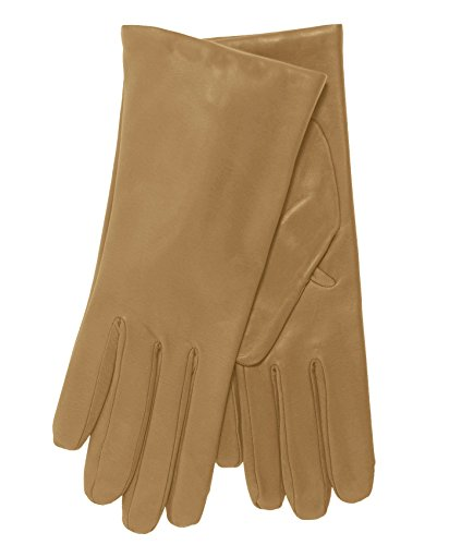 - Fratelli Orsini Everyday Women's Italian Cashmere Lined Leather Gloves Size 7 Color Beige