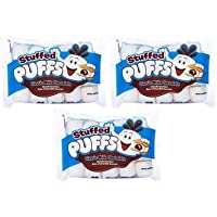 Stuffed Puffs - Classic Milk Chocolate 3 Pack, Chocolate Filled Marshmallows Made...