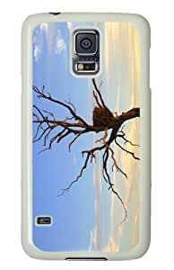 Customized Samsung Galaxy S5 White Edge PC Phone Cases - Personalized Eagles Nest Cover