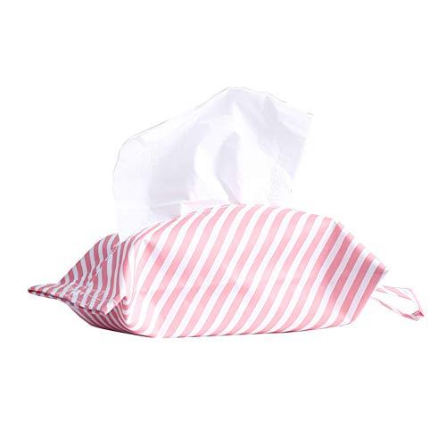 - Afco Hanging Napkin Holder Flamingo Cactus Striped Case Home Paper Bag Tissue Box 2