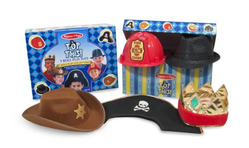 Melissa & Doug Dress-Up Hats, Pack of 5 -