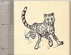 Cheetah Rubber Stamp