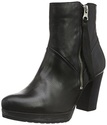 W Casa 10 Negro Jja15 de para Zip Zapatillas Schwarz Black Bianco Mujer por Boot Platform Estar aqETzT