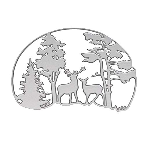 AkoMatial Cutting Dies,Forest Deer Design Embossing Cutting Dies Tool Stencil Template Mold Card Making Scrapbook Album Paper Card Craft,Metal by AkoMatial (Image #2)