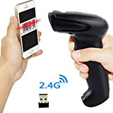 Wireless USB Barcode Scanner,Symcode Handheld Automatic CCD Barcode Scanner Reader 2.4GHz Wireless & USB2.0 Wired, Support Mac OS X, Android, Windows 10 and IOS 9