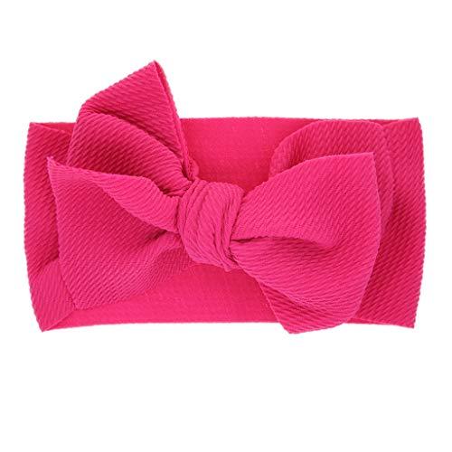 Baby Girls Headbands Baby Head Wraps Baby Headbands and Bows Chiffon Flower (Hot Pink)