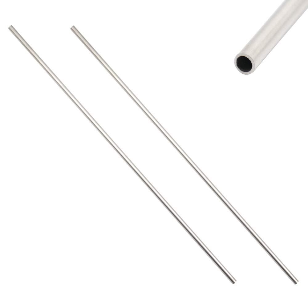 2pcs 304 Stainless Steel Capillary Tube OD 5mm x 3mm ID Length 250MM New