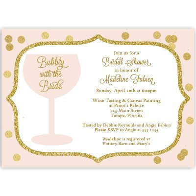 amazon com wine bridal shower invitations wedding shower