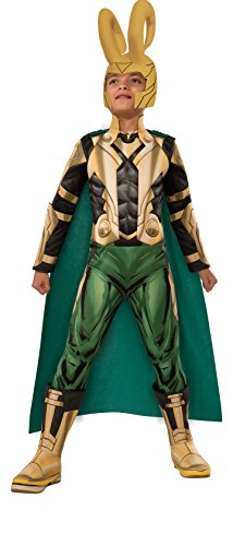 [Avengers Assemble Loki Deluxe Costume, Child's Small] (Loki Costume)