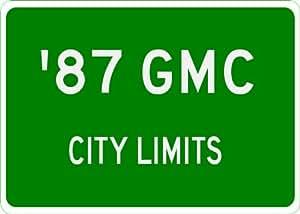 1987 87 GMC SUBURBAN City Limit Sign - 10 x 14 Inches