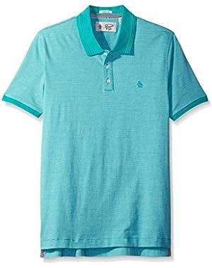 Men's Short Sleeve Feeder Polo