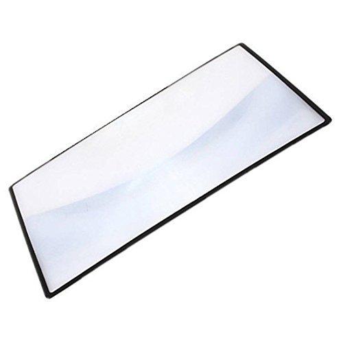 TOOGOO(R)A5 Flat PVC Magnifier Sheet X3 180X120mm Book Page Magnifying Glass Reading Lens Black