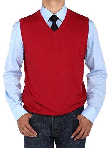 V-Neck Cotton Sweater Vest - 4