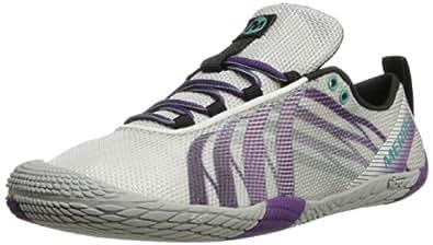 Merrell Women's Vapor Glove Trail Running Shoe,White/Purple,5 M US