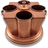 4 Bottle Wine Chilling Caddy Copper Finish