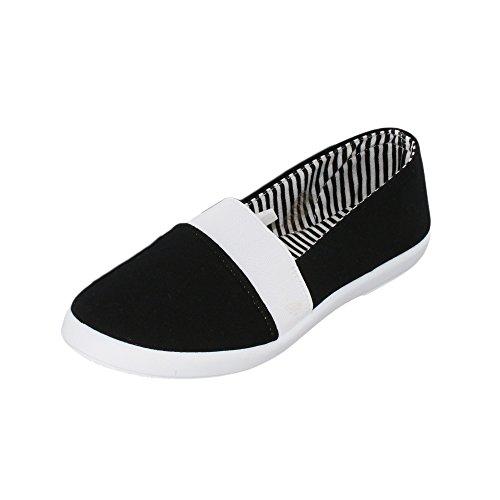brandsseller - Mocasines de Material Sintético para mujer negro
