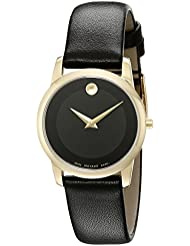 Movado Womens 0606877 Analog Display Swiss Quartz Black Watch