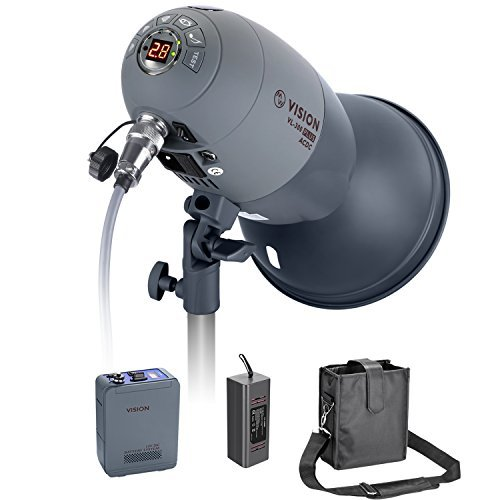 Neewer VL-300 Plus AC/DC Dual-Power Support 300W GN65 Strobe Studio Flash with Built-in 2.4G Receiver (Trigger Included), Recycle in 0.8-2.5 seconds, with 3300mAh Battery Pack, Bowens Mount -