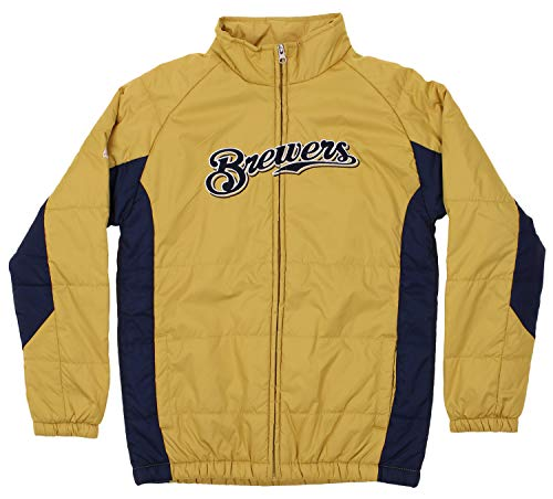 - Outerstuff MLB Youth (8-20) Double Climate Full Zip Jacket, Milwaukee Brewers Medium (10-12)