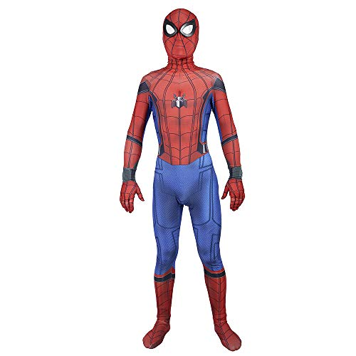 (Elakaka Spiderman Homecoming Costume,Adult 3D Zentai Suit Costume Cosplay)
