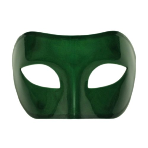 Green Venetian Masquerade Mask ~ Mardi Gras Prom Party Accessory ()