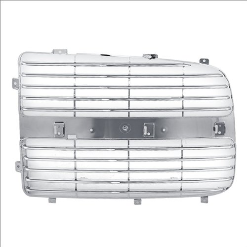 CarPartsDepot, Chrome Driver Side Grill Grille Insert Bar Assembly Left Pickup, 400-17620-01 CH1201103 5073297AA