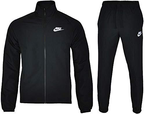 Nike Men's Sportswear Woven Tracksuit (Black, L)