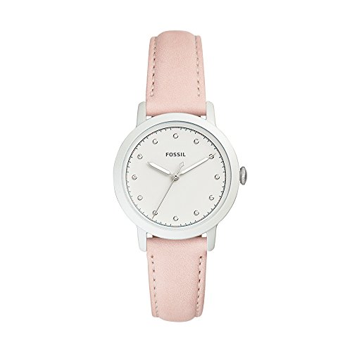 Fossil Women's 'Neely' Quartz Stainless Steel and Leather Casual Watch, Color:Beige (Model: ()