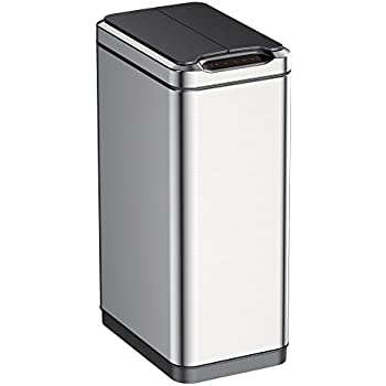 Style Of EKO 1 Phantom Motion Sensor Touchless Stainless Steel Trash Can For Your Plan - Simple motion sensor kitchen trash can Top Design