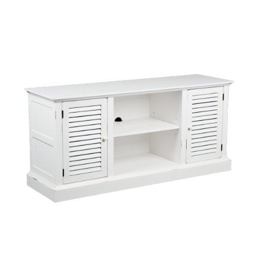 Antebellum Media Stand - Antique White (Antique White Tv Stand Flat Screen)