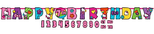 Sanrio Hello Kitty Rainbow Kids Birthday Party Jumbo Add An Age Letter Banner 10 Ft. (1ct) for $<!--$7.25-->