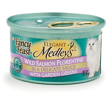 Fancy Feast Elegant Medleys Wild Salmon Florentine Adult Can
