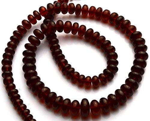 1 Strand Natural Hessonite Garnet Facet 6 to 9MM Rondelle Beads 19 Inch by LadoNarayani