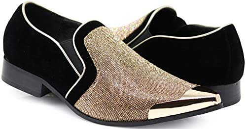 a5ee39df9 18 bình luận. Từ Mỹ. Enzo Romeo Crisiano Men Rhinestone Chrome Toe Suede  Pointy Dress Loafer Slip On Shoes